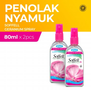 Soffell Botol Spray Bunga Geranium 80Ml x2
