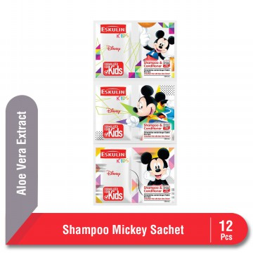 Eskulin Kids Shampoo & Conditioner Mickey Sachet 12 Pcs