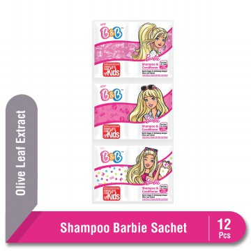 B&B Shampoo & Conditioner Barbie Sachet 12 Pcs