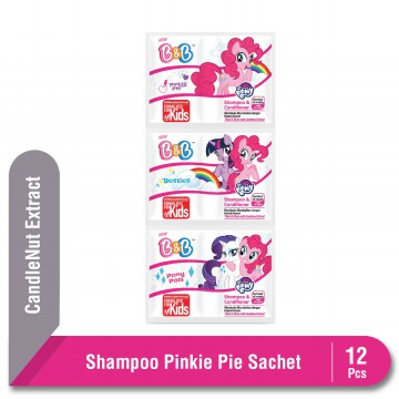B&B Shampoo & Conditioner Pinkie Pie Sachet 12 Pcs