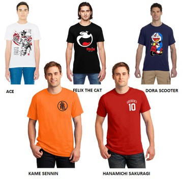 (Buy 1 Get 1 Free) SALE Kaos T-Shirt Murah My Heroes 02 - Multicolor