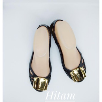 Collin Ferragamo Shoes - Jelly Shoes Ferragamo / Flat Shoes Empuk
