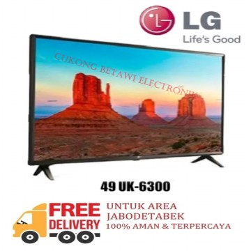 LG 49UK6300PTE 49 Inch UHD 4K Smart Flat LED TV ThinQ AI-Resmi