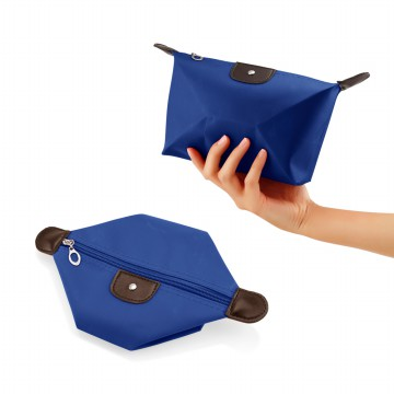 Cosmetic Bag Organizer Waterproof Pouch - Dompet Tas Kosmetik - Tas Peralatan Make Up [Biru Tua]