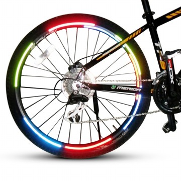 Bicycle Wheel Reflective Sticker / Stiker Roda Sepeda - 8 Strip
