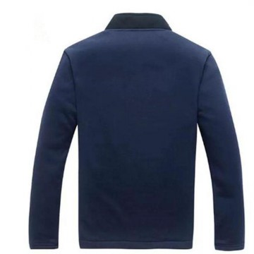 Jaket Blazer Pria Casual Fleece Biru Navy-Sweater Jas Casual-DRB SWEAT SHIRT NAVY
