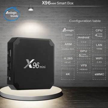 X96 Mini TV Box 1GB RAM + 16 GB ROM with Android 7.1.2
