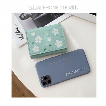 W118 Dompet Pendek Wanita Double Love Flower Women Wallet