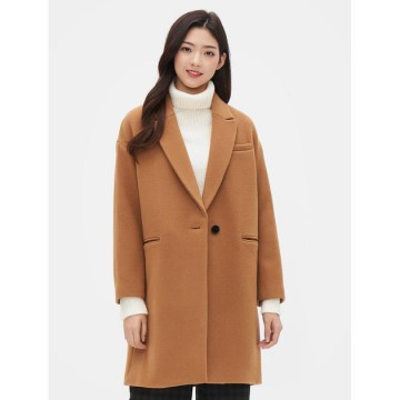8SECONDS Tailored Collar Single Coat - Yellowish Brown