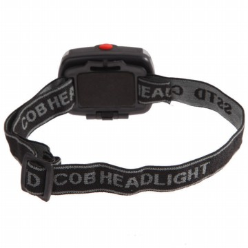 Headlamp Flashlight Waterproof LED 3 Modes Headlight - Black