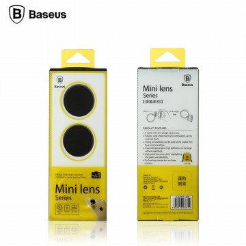 [esiafone total sale] BASEUS 3 in 1 Universal Clip Fisheye Wide Angle Macro Lens for Smartphone