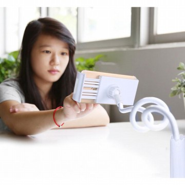 Lazy Arm Universal Tablet PC Holder dengan Klip 360 Derajat - White