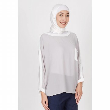 [HIJABENKA] Alvilda Top Grey