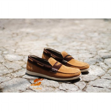 D-Island Shoes Slip On Limited Lux - Cokelat