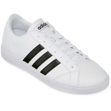 Adidas Neo Baseline Leather White Black AW4409 Sneakers Shoes