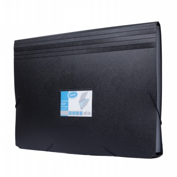 Bantex Expanding File Folio Black #3601 10