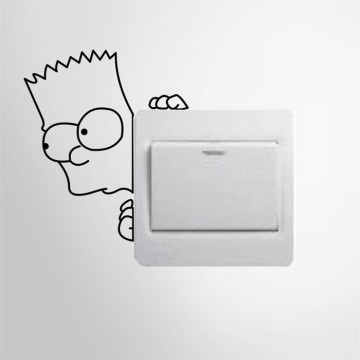 Stiker Dekorasi Saklar Lampu Motif Simpsons Unik Decal Wall Sticker