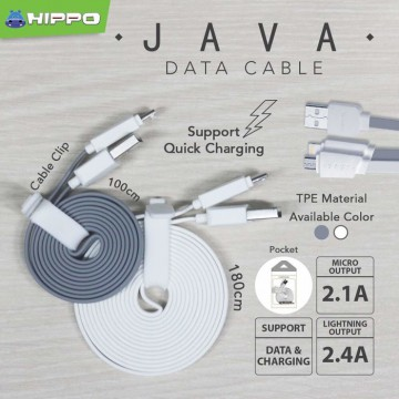 Hippo Java Lightning Kabel Data  Charger iPhone iPad 180cm