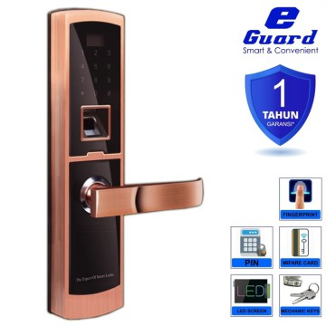 E-Guard Smart Digital Door Lock Fingerprint Kuncipintu Digital 1604R