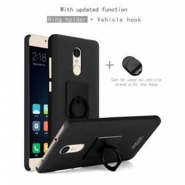 Imak Contracted iRing Hard Case for Xiaomi Redmi Note 4X - Black