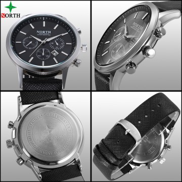 NORTH Jam Tangan Analog - 6009 - Black