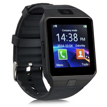 DZ09 Smartwatch WatchPhone GSM for Android - Black