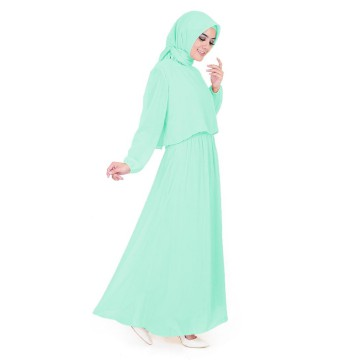Long Dress Tangan Panjang Wanita Muslim Model terbaru - Jfashion Laras