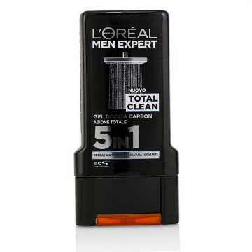 L'Oreal Men Expert Shower Gel - Total Clean (For Body, Face & Hair)  300ml/10.1oz