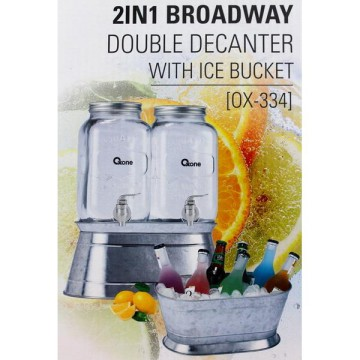 Oxone 2in1 Broadway Double Decanter with Ice Bucket (OX-334)