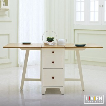 FREE ONGKIR Meja Lipat Transformer Maple Series-Meja Makan-Meja Kerja LIVIEN Furniture