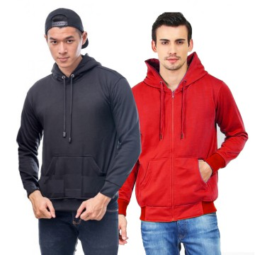 Jaket Seleting/Zipper Polos Murah Fleece Tebal | Sweater Hoodie Jacket unisex Pria Wanita M L XL