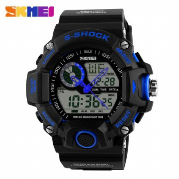 Jam Tangan Pria SKMEI S-Shock Men Sport LED Watch Water Resistant 50m - AD1029