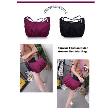 Popular Fashion Women Nylon Shoulder Bag / Tas Selempang