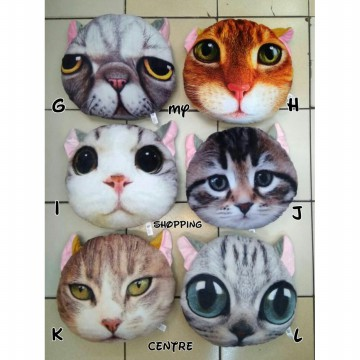 Bantal Karakter Cat 3D / Princess / Superhero