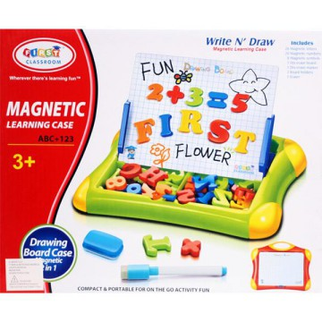 Mainan Edukasi Magnetic Learning Case Drawing Board 2 in 1/classroom