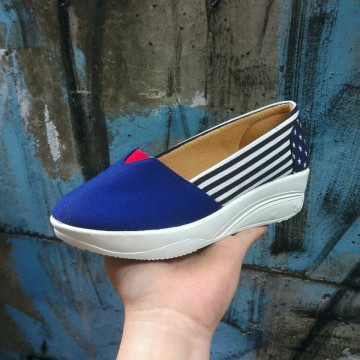 Sepatu Wanita Slip On US Canvas / Size 36-40 / Platform Shoes / Slip On Shoes