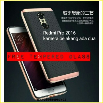 XIAOMI REDMI PRO DUAL CAMERA IPAKY ARMOR CASE COVER + TEMPERED GLASS