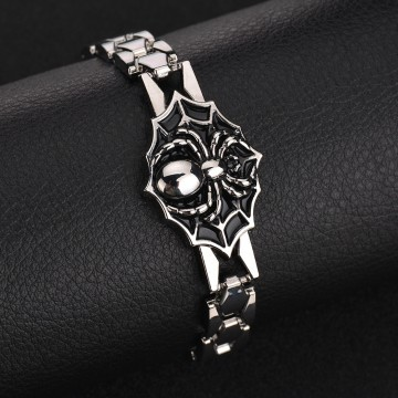 Cool Men Spider Punk Clasp Bracelet Bangle Night Club Jewelry Birthday Xmas Gift