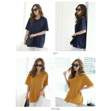 KOREAN STYLE ★ BASIC POINT TEE / baju atasan wanita / blouse jumbo / tunic / longdress / pakaian wanita / long dress /baju kaftan