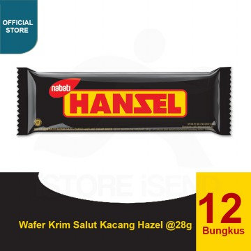 Nabati Hansel Hazelnut Chocolate Bar Snack 28 gr (12 pcs)