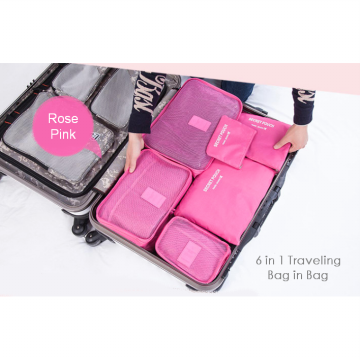 [Set 6in1] Tas Travel Bag in Bag Cosmetic Organizer