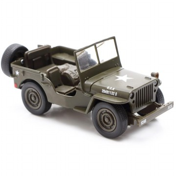 Die Cast New Ray Jeep Willys Military U.S. Army Scale 1:32