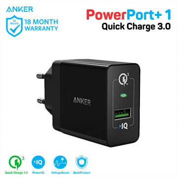Wall Charger Anker PowerPort+ 1 Quick Charge 3.0 A2013