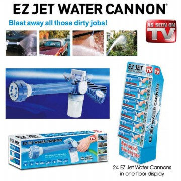 Ez Jet Water Cannon - Pressure Water Jet Gun with 8 Built-In Spray Patterns