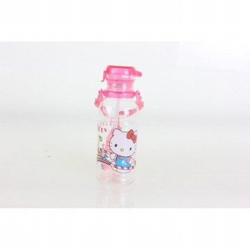 BOTOL MINUM WATER TRANSPARAN MOTIF HELLO KITTY BT-1307KT