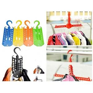 magic hanger gantungan baju pakaian multifungsi portabel colorfull