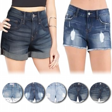 NEW MODEL! Denim Short Pants - 4 MODEL - Good Quality - Best Seller - Celana Denim - Celana Pendek Wanita