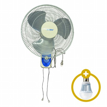 Miyoshi Wall Fan Ukuran 16 Inch PLUS Bohlam Led On TRus