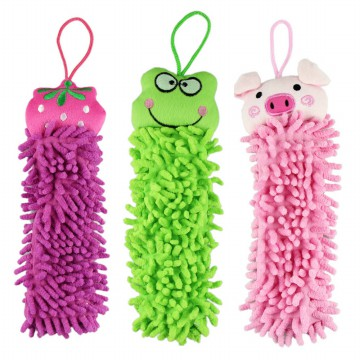 [Lap]cartoon hanging towel animal face cleaning towel - Panjang 36 cm (BUKAN YG MURAH-PENDEK)