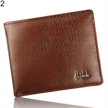 [FREE ONGKIR] Men's Faux Leather Bifold Wallet - 2 Color